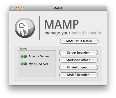 MAMP-Screenshot