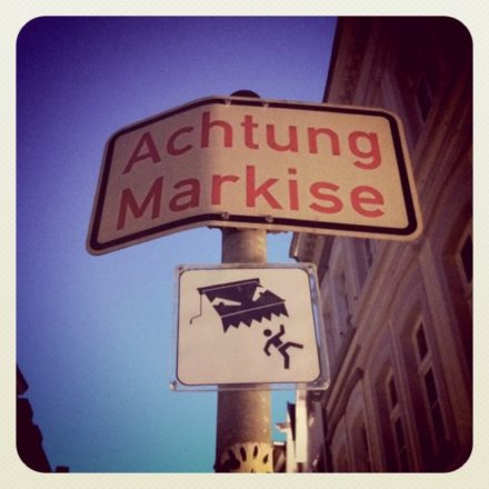 Achtung Markise