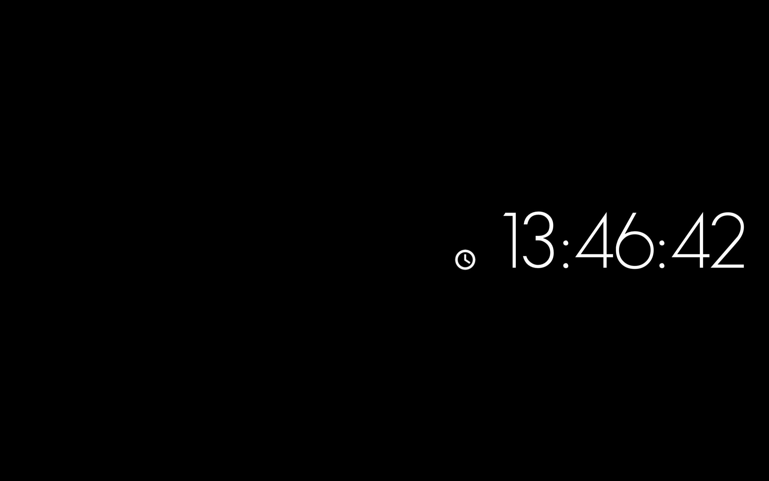Screenshot Minimal Clock