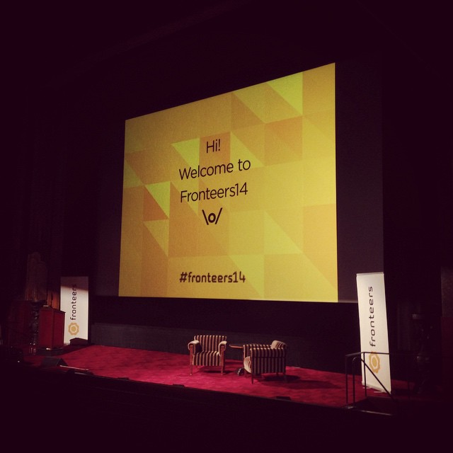 Good Morning, #fronteers14!
