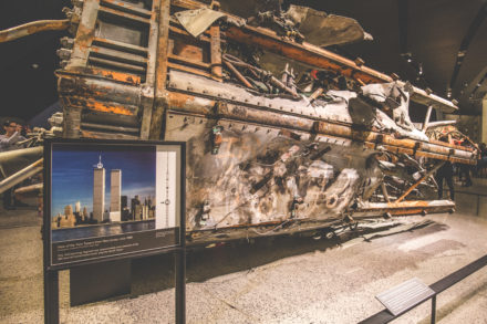 Ein Stück WTC im National September 11 Memorial and Museum